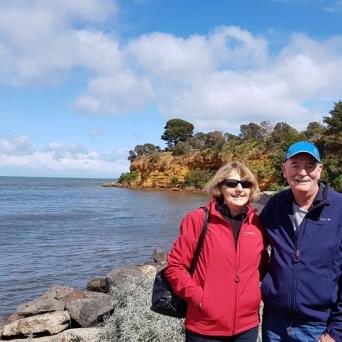 Kay & Pat at the Beach