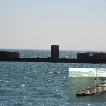 HMVS Cerberus Then and Now