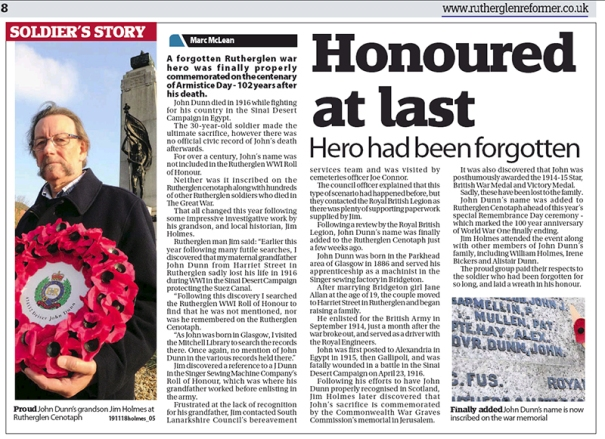 Honoured at last