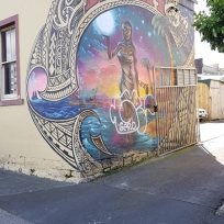 Hina by Jonny 4Higher, on the back of West Terrace Lodge, near K'Road