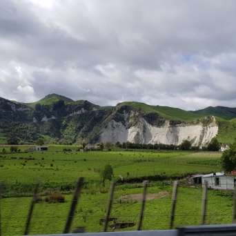 The papa cliffs of Mangaweka are beautiful