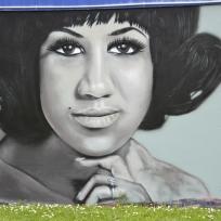 Aretha Franklin by Paul Walsh on K'Road.