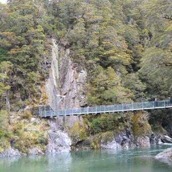 Blue Pools Suspension Bridge
