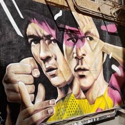 Bruce Lee, by South Korean artist Xeva in Tank Lane