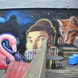 De Beers beer garden by Mark Worst