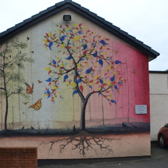 Tree mural Lady Lane by Kevin Cantwell