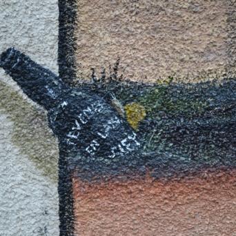 The slug in the bottle.
