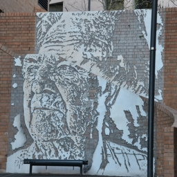 Jack Mundy, a distinguished Australian union and environmental activist by Vhils