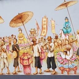 Taking part in temple festivities