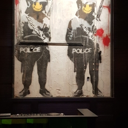 """""""Smiley Coppers Panel I"""" by Banksy"""
