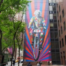 """""""Albert Einstein, genius bike ride"""" – 780 Third Avenue"""