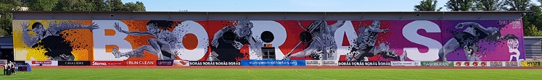 Borås Stadium mural