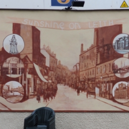 Leith Dockers Club mural by Tom watson