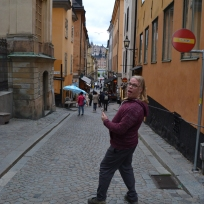 Rob Dew in Gamla Stan (Old Town)