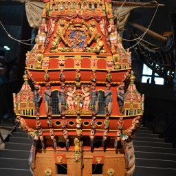 Vasa's Stern section as it was launched
