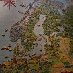 Game of Thrones style war map of the Thirty Year Wars
