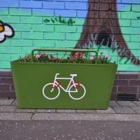 Suntrans great bike rack/planters