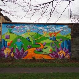 Pilrig Park Mural By Too Much Fun Club
